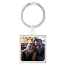 Two Lovers Square Keychain