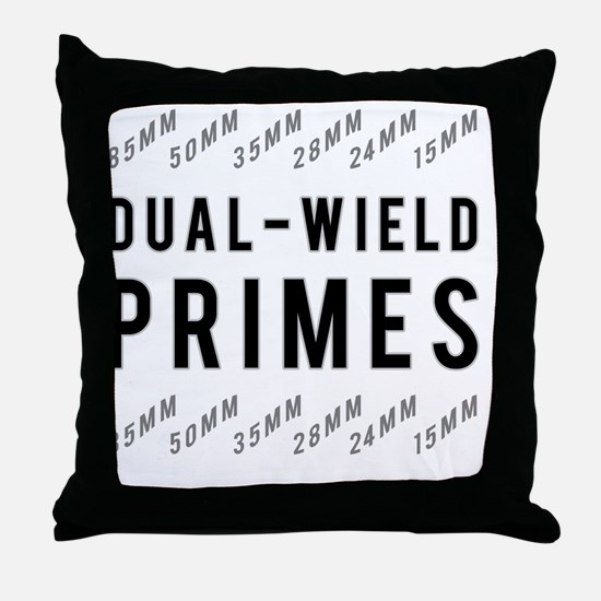 Dual Wield Primes Throw Pillow