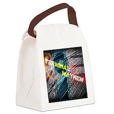 Terminal Mayhem Canvas Lunch Bag