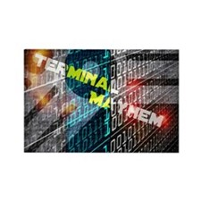 Terminal Mayhem Rectangle Magnet