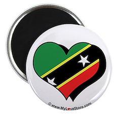 """I Love Saint Kitts & Nevis 2.25"""" Magnet (100 pack"""