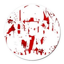 Miami Zombie Attack Survivor Round Car Magnet