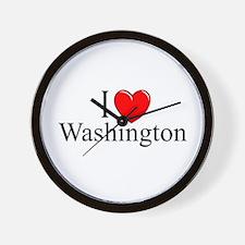 """""""I Love Washington"""" Wall Clock"""