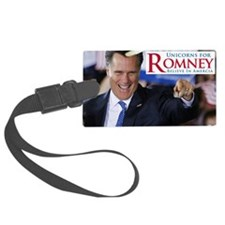 unicorns for romney horn 1 copy Luggage Tag