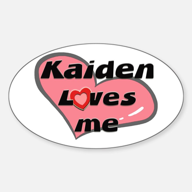 kaiden loves me Oval Decal