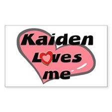 kaiden loves me Rectangle Decal