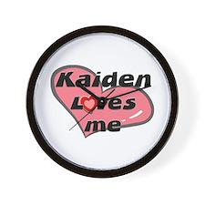 kaiden loves me  Wall Clock