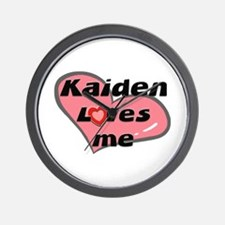 kaiden loves me  Wall Clock