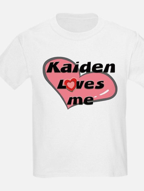 kaiden loves me Kids T-Shirt
