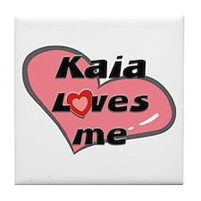 kaia loves me  Tile Coaster