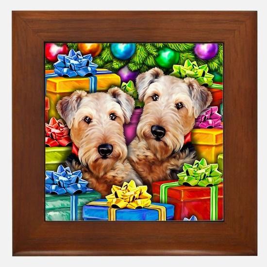 Airedale Terrier Christmas Framed Tile