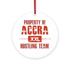 Accra Hustling Team Round Ornament