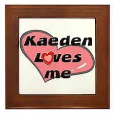 kaeden loves me  Framed Tile