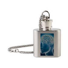 Brain 1 Flask Necklace
