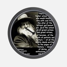 Whitman School Quote 2 Wall Clock