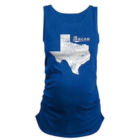 Bacon, Texas. Vintage Maternity Tank Top
