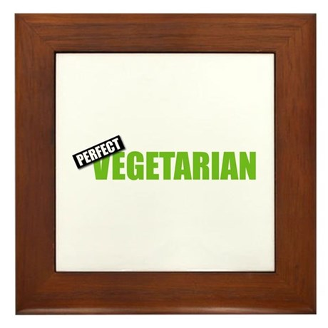 Perfect Vegetarian Framed Tile