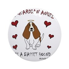 BassetHoundTan Round Ornament