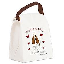 BassetHoundTan Canvas Lunch Bag