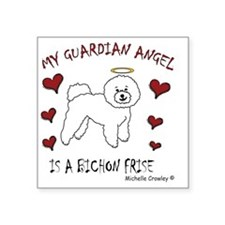 "BichonFrise Square Sticker 3"" x 3"""