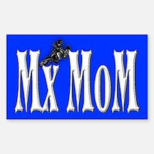 Mx-Mom Yamaha Motocross Rectangle Decal