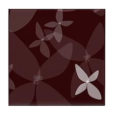 Flower Art (plum) Tile Coaster