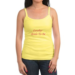October Bride To Be Jr. Spaghetti Tank