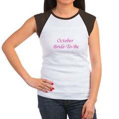 October Bride To Be Women's Cap Sleeve T-Shirt