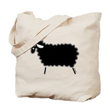 Single Black Sheep Tote Bag