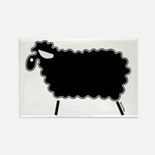 Single Black Sheep Rectangle Magnet (100 pack)