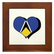 I Love Saint Lucia Framed Tile