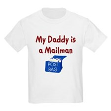 My Daddy Is A Mailman Kids T-Shirt