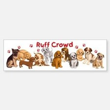 Dogs_Ruff_Crowd_B Bumper Bumper Sticker