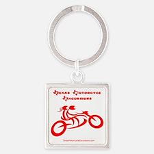 Logo red-dark Square Keychain