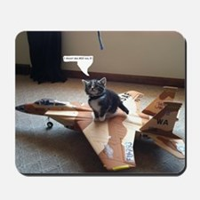 Kitty Fighter Pilot Mousepad