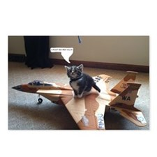 Kitty Fighter Pilot Postcards (Package of 8)