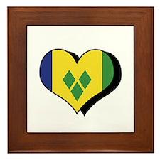 I Love Saint Vincent Grenadines Framed Tile