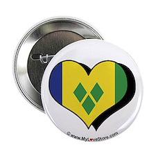 """I Love Saint Vincent Grenadines 2.25"""" Button (100"""