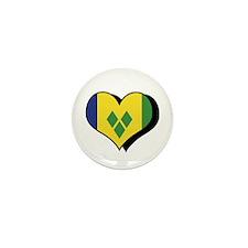 I Love Saint Vincent Grenadines Mini Button (100