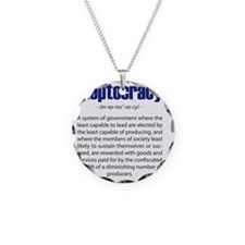 Ineptocracy Necklace Circle Charm