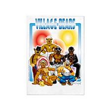 Village Bears 5'x7'Area Rug
