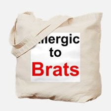 Allergic To Brats Tote Bag