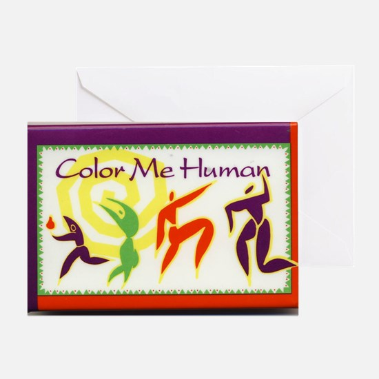 Color Me Human Greeting Card