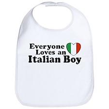 Everyone loves an italian boy Bib