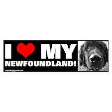 """""""I LOVE MY NEWFOUNDLAND!"""" Bumper Bumper Sticker"""