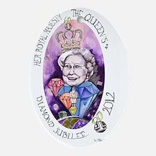 HRM Queen Elizabeth II Diamond Jubil Oval Ornament
