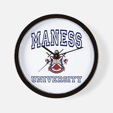 MANESS University Wall Clock