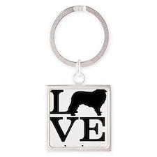 Love my Leonberger Square Keychain