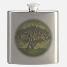 Buddha Beneath the Bodhi Tree Flask