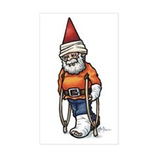 Good Recovery Gnome Rectangle Decal